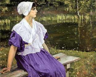 Girl by a Pond (Portrait of Natalia Nesterova) — Михаил Нестеров