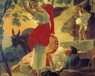 Девушка, собирающая виноград в окрестностях Неаполя — Карл Брюллов