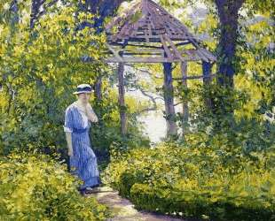 Girl in a Wickford Garden, New England — Ги Роуз