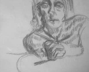 Пишущая девушка — Люсьен Фрейд