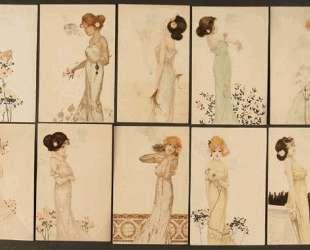 Girls with flowers at feet — Рафаэль Кирхнер