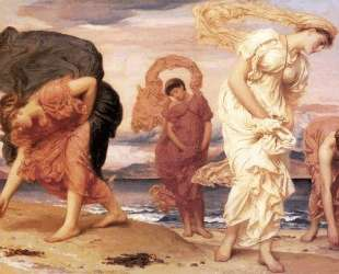 Greek Girls Picking up Pebbles — Фредерик Лейтон
