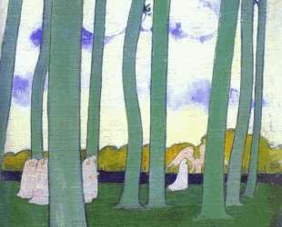 Landscape with Green Trees or Beech Trees in Kerduel — Морис Дени