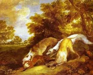 Greyhounds coursing a fox — Томас Гейнсборо