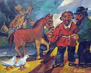 Цыгане с лошадью — Давид Бурлюк