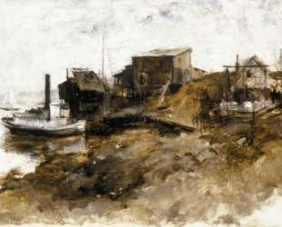 Harbor View — Джон Генри Твахтман (Tуоктмен)