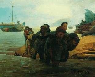 Бурлаки, идущие вброд — Илья Репин