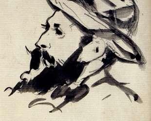 Head of a Man (Claude Monet) — Эдуард Мане