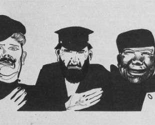 Святые прозорливцы. Рисунок для журнала «Безбожник у станка» — Александр Дейнека
