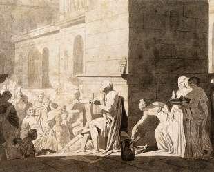 Гомер читает стихи грекам — Жак Луи Давид