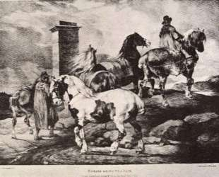 Horses going to a fair — Теодор Жерико