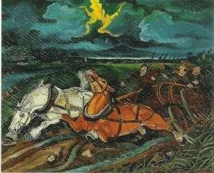 Horses with storm — Антонио Лигабуэ