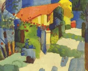 House in the garden — Август Маке