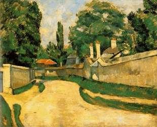 Houses Along a Road — Поль Сезанн