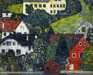 Houses at Unterach on the Attersee — Густав Климт