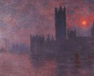 Вестминстерский дворец на закате — Клод Моне