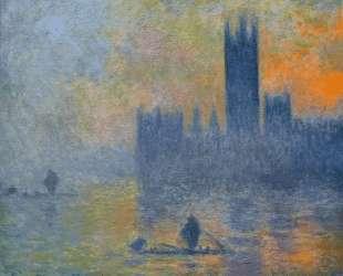Вестминстерский дворец. Эффект тумана — Клод Моне