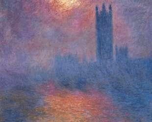 Вестминстерский дворец, Лондон. Пробивается солнце — Клод Моне