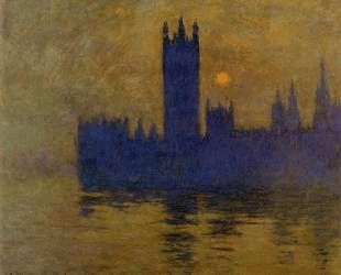 Вестминстерский дворец, закат — Клод Моне