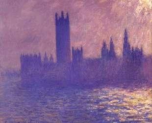 Вестминстерский дворец, эффект солнечного света — Клод Моне