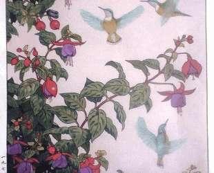 Hummingbird and Fuchsia — Тоси Ёсида