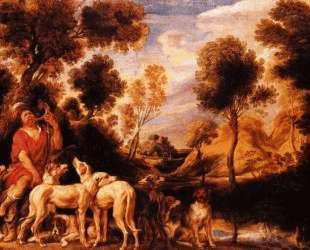 Hunter with his dogs — Якоб Йорданс