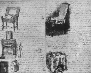 Illustrated letter written to his family — Томас Икинс