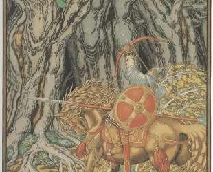 Иллюстрация к былине 'Илья Муромец и Соловей-разбойник' — Иван Билибин
