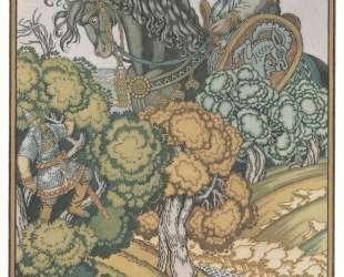 Иллюстрация к былине 'Илья Муромец и Святогор' — Иван Билибин