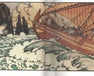 Иллюстрация к сказке 'Синдбад-мореход' — Иван Билибин