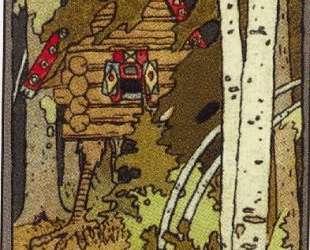 Иллюстрация для первой страницы обложки книг серии 'Сказки' — Иван Билибин