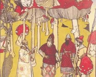 Illustration to the fairy tale 'The War of mushrooms' — Георгий Нарбут