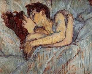 In Bed The Kiss — Анри де Тулуз-Лотрек