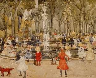 In Central Park, New York — Морис Прендергаст