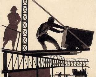 В Донбассе. Рисунок для журнала «У станка» — Александр Дейнека