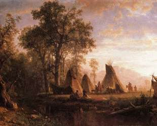 Indian Encampment, Late Afternoon — Альберт Бирштадт