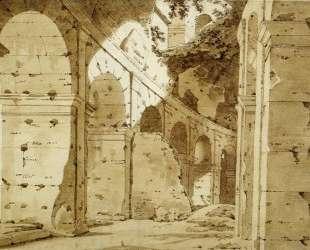 Inside the Arcade of the Colosseum — Джозеф Райт