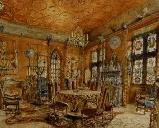 Interieur of castleIn Renaissance Style — Рудольф фон Альт