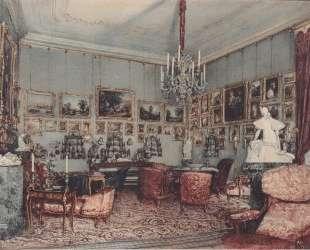Interior in Palace Windischgratz in the race in Wien — Рудольф фон Альт