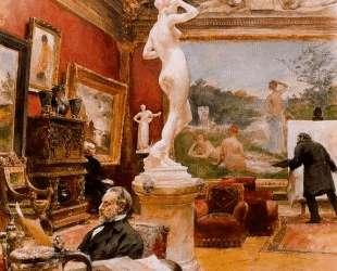 Interior of the gallery Furstengerg in Gooteborg — Карл Ларссон