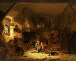 Interior with Children — Исаак ван Остаде