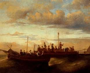 Italian Fishing Vessels at Dusk — Адольф Жозеф Тома Монтичелли