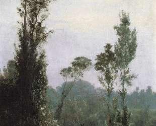 Итальянский пейзаж с крестьянином — Василий Поленов