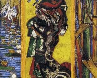 Japonaiserie Oiran (after Kesai Eisen) — Винсент Ван Гог