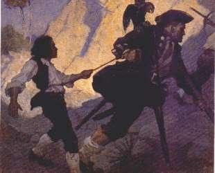 Jim, Long John Silver and his Parrot — Ньюэлл Конверс Уайет
