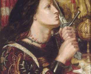 Joan of Arc Kisses the Sword of Liberation — Данте Габриэль Россетти