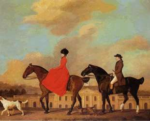John and Sophia Musters riding at Colwick Hall — Джордж Стаббс