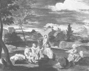 Крещение народа Иоанном — Орест Кипренский