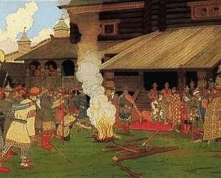 Суд во время Русской Правды — Иван Билибин