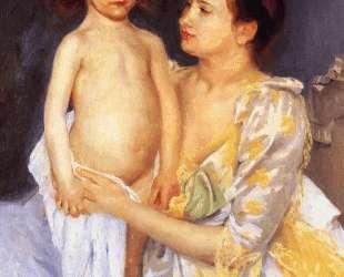 Мама вытирает Джулза — Мэри Кассат